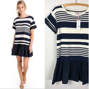 NEW Vineyard Vines Mixed Media Dress Striped 545